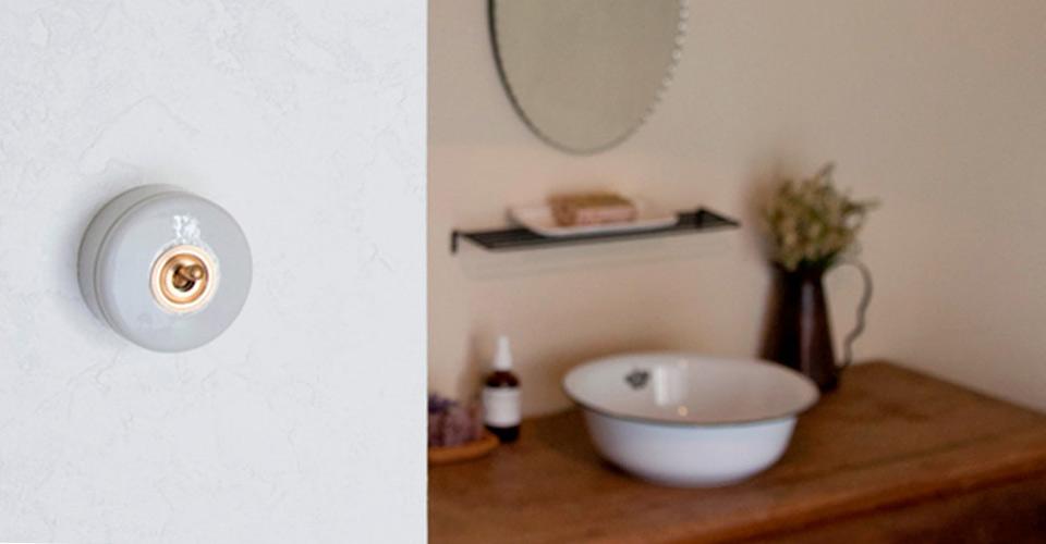 アンティークテイストな陶器製トグルスイッチシリーズ