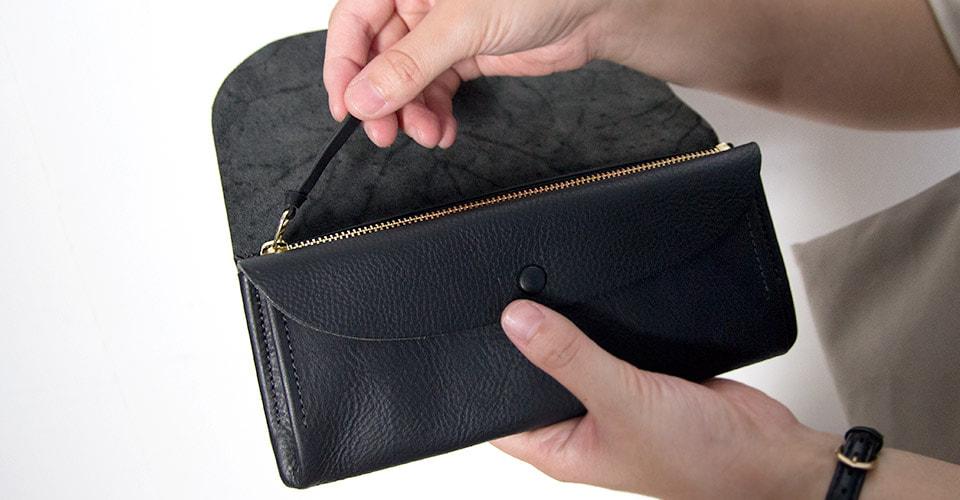 サンク長財布ブラック