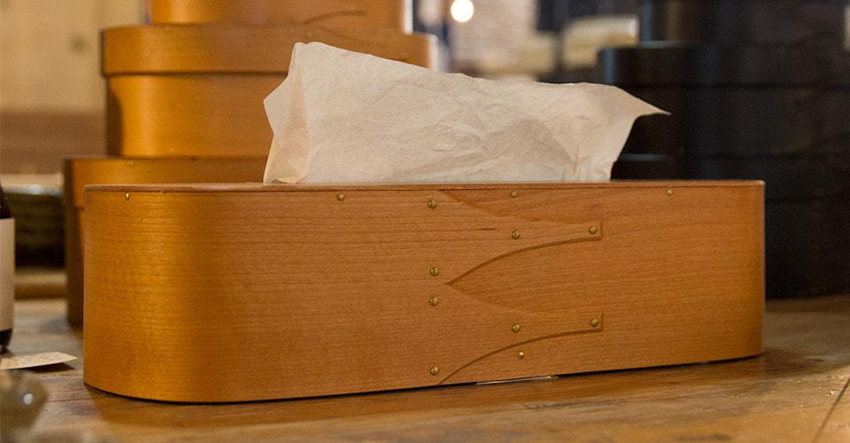 まる工芸ティッシュケース・真鍮リベット