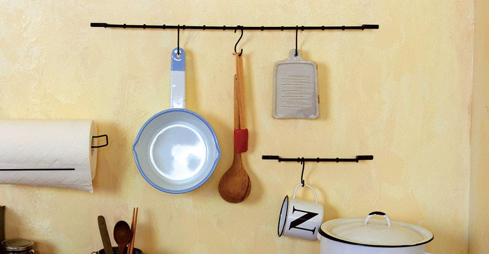 キッチンのアイアンレール