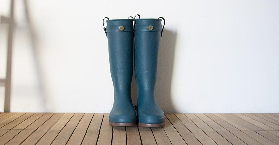ダイイチラバー長靴RAKAブルーグリーン24cm