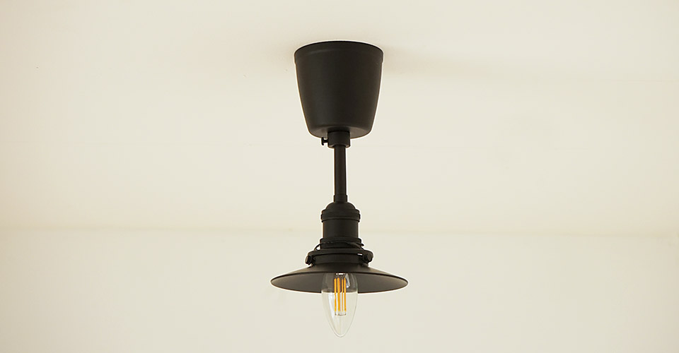ブラックアイアンの照明灯具 レセップライト
