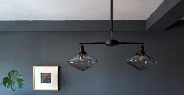 ブラックアイアンの照明灯具